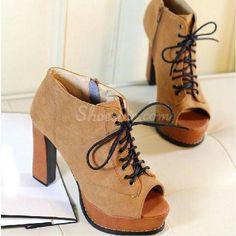 Peep toe ankle boots