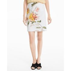 a83f909ab9 White House Black Market Embroidered Floral Pencil Skirt ($45) ❤ liked on  Polyvore featuring