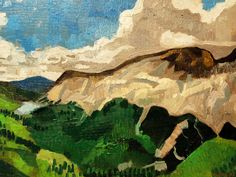 Colorado Landscape Oil on Wood 12 X 16 Ready by JohnKlineArtwork, $40.00