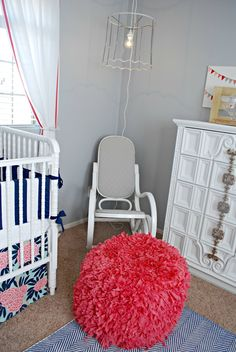 Recovering a Rocking Chair and Cute Nursery!
