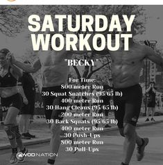 Crossfit Workouts At Home, Wod Workout, Track Workout, Fitness Goals, Fitness Motivation, Health Fitness, Workout Videos, Exercise Videos, Saturday Workout