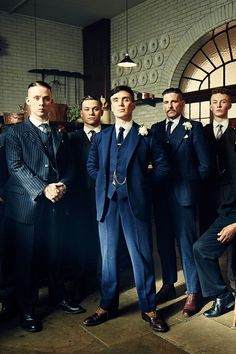 Navy 1000% wool three piece suit - similar to as seen on Peaky Blinders.  Dress to impress in this beautifully finished, super fine 100% wool three-piece-suit, in a gorgeous shade of navy. Brook Taverner