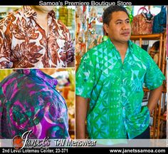 New TAV Clothing in Store at Janet's – TAV Men's wear. Exclusive Pacific styles and patterns for Men. Comfortable stylish fit. See our New Collection in Store Now at Janet's.  Janet's ●► http://www.facebook.com/wheresamoashops janetssamoa.com 2nd level Lotemau PH: 23371  #tav #samoa #samoashopping #pacificfashion