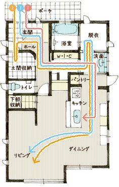 Y様邸間取り図 Apartment Layout, Apartment Design, Good House, My House, Japanese Architecture, Architecture Design, Japanese House, House Made, House Layouts