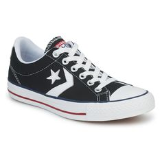 Low top trainers Converse STAR PLAYER CANVAS OX Black / White - Free Delivery with Spartoo.co.uk ! - Shoes £ 57.99