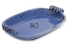 Lovely!! Fleur-de-Lis Tray Blue on OneKingsLane.com