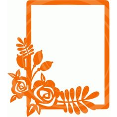Silhouette Design Store - View Design #64633: flower frame