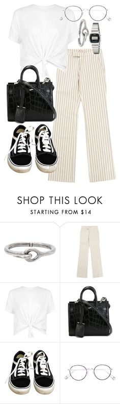 """Untitled #21573"" by florencia95 ❤ liked on Polyvore featuring Acne Studios, Marni, Yves Saint Laurent, Vans, Ahlem and Casio"