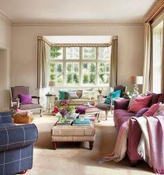 Lo stile inglese in una casa dell\'Hampshire in Inghilterra. Una ...