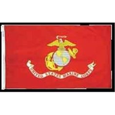 Annin Flagmakers 324511 Eb Us Marine Corps Mounted 4 x 6 in. (Pack of 12), As Shown