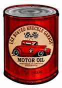 """Busted Knuckle Motor Oil Can Sign - 24 GAUGE METAL 14"""" x 20"""""""