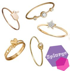 thin gold rings #delicate #simple #jewelry