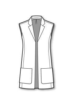 Long line vest jacket