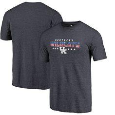 Kentucky Wildcats Fanatics Branded Spangled Tri-Blend T-Shirt - Navy