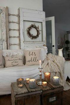 French Country Farmhouse, White Farmhouse, Farmhouse Decor, Romantic Homes, Shabby Chic, Whitewash, Joy, Ladders, Rustic