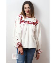 IA the Romanian Blouse. Here you can buy Romanian peasant blouses ie and folk costumes traditional clothes. Worldwide shipping for embroidered Romanian blouse Folk Costume, Costumes, Peasant Blouse, Blouse Online, Embroidered Blouse, Traditional Outfits, Bell Sleeve Top, Blouses, Stuff To Buy