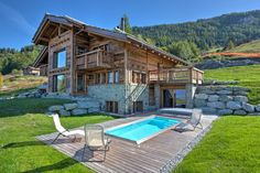 Unique Chalet 14 people with outdoor swim spa, on the track, well-being - Nendaz Outdoor Swimming Pool, Swimming Pools, Ski Slopes, Cinema Room, Billiard Room, Workout Rooms, Skiing, Exterior, Mansions