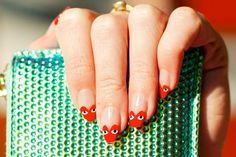 Comme des Garcons Play-Inspired Nails