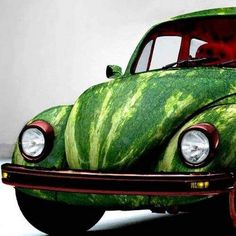 car wrapping, watermelon wrap, vw beetle