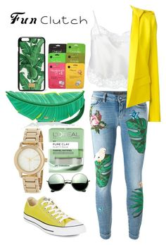 """""""Fun Clutch"""" by gracefully-artistic on Polyvore featuring Kate Spade, Dolce&Gabbana, Givenchy, Alexandre Vauthier, L'Oréal Paris, DKNY, Revo and Converse"""
