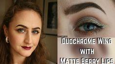 Duochrome Wing with Matte Berry Lips (MUG, Aromaleigh and Jeffree Star)  #makeup #tutorial #indiemakeup #aromaleigh #duochrome #winged #gold #green #berry #berrylips #autumn #autumnal #fall #jeffreestar