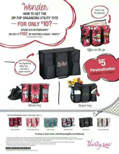 Thirty-One has a NEW product on special for February! Jersey girls book your party today!!  Www.mythirtyone.com/mollieharms