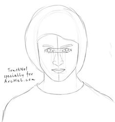 How to draw Harry Potter step 4