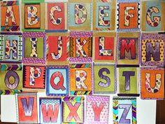 Creative ABC Flashcard Set by TextileandType on Etsy