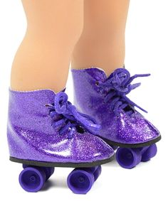 Take a look at this Purple Glitter Roller Skates for 18'' Doll today!