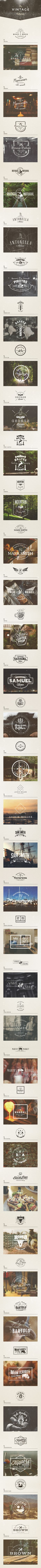Vintage Logos Collection on Behance #branding #logo #vintage