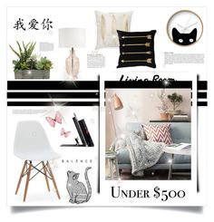 """Decorate a Living Room for Under $500"" by alicepippawilliams ❤ liked on Polyvore featuring interior, interiors, interior design, home, home decor, interior decorating, Ballard Designs, Levtex, KEEP ME and Dot & Bo"