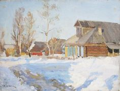 Ligachevo, huile sur toile de Konstantin Yuon (1875-1958, Russia)