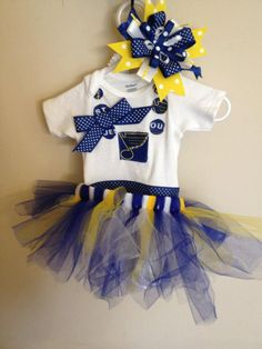 St Louis Blues Necklace with Polka Dot Bow by LittleBitsByJulie, $12.00