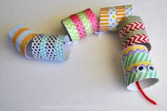 Washi Tape Snake Craft