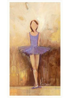 Oopsy Daisy Canvas Wall Art Belle of the Ballet Purple