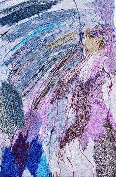 textile by Alice Kettle Textile Fiber Art, Fibre Art, Textile Artists, Free Machine Embroidery, Diy Embroidery, Applique Stitches, Art Du Fil, Textiles Techniques, Contemporary Embroidery