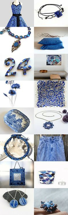 Deep shades of blue! by Natasha on Etsy--Pinned with TreasuryPin.com