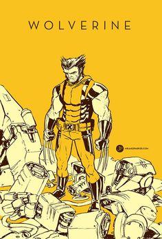 O trabalho do quadrinista Jake Parker com um dos heróis mais icônicos, o Wolverine.