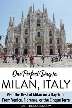 One day in Milan, Italy. Learn how to plan the perfect day trip to Milan from Florence, Venice or the Cinque Terre, see DaVinci's Last Supper, and stand on the roof of the Duomo.  #milan #italy #florence #venice