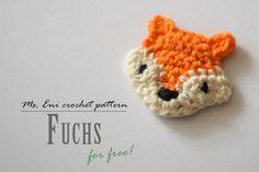 Fuchs,Applikation , - everyday hairstyles,everyday hairstyles for long hair,everyday hairstyles for short hair Crochet Baby Hats, Knit Crochet, Crochet Stars, Crochet Bookmarks, Crochet Instructions, Textiles, Knit Patterns, Crochet Projects, Crochet Ideas