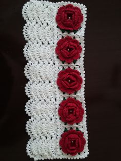 Barrado floral para toalha de rosto