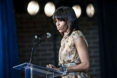 Michelle Obama confrontó a manifestante en acto de recaudación de fondos - Cachicha.com
