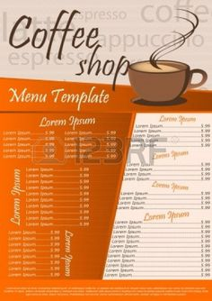 Cafe on pinterest coffee shop menu apricot bars and for Coffee price list template