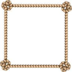 Border Design, Pattern Design, Rope Frame, Nautical Rope, Album Design, Flower Frame, Line Drawing, Baroque, Chains