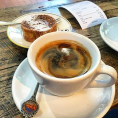 https://flic.kr/p/BJ3KsE | Coffee and cake at Market Lane Coffee in Prahran #coffee #longblack #marketlanecoffee