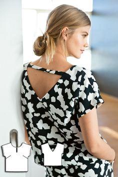 Top Burda Apr 2016 Pattern $5.99: http://www.burdastyle.com/pattern_store/patterns/triangle-back-blouse-042016