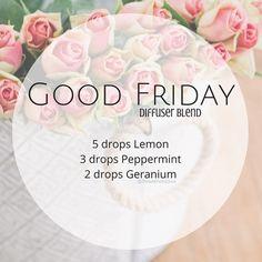 Good Friday diffuser blend. Easter diffuser blend. Spring diffuser blend. Essential oils. Doterra.