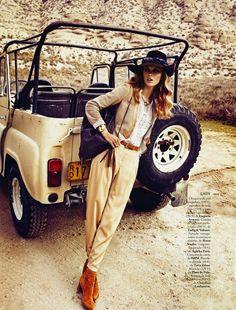 "visual optimism; fashion editorials, shows, campaigns & more!: ""safari"" lady vs wild: lys inger by xavi gordo for elle spain april 2013"
