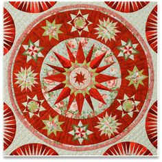 Center medallion of Surprisingly Red by Jacqueline de Jonge