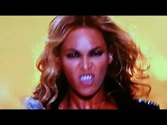 CREEPY! - A Demon takes over Beyonce at Superbowl 2013 Halftime Show (MIRROR) - YouTube